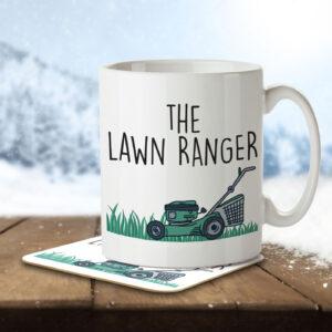The Lawn Ranger – Gardening Pun – Mug and Coaster