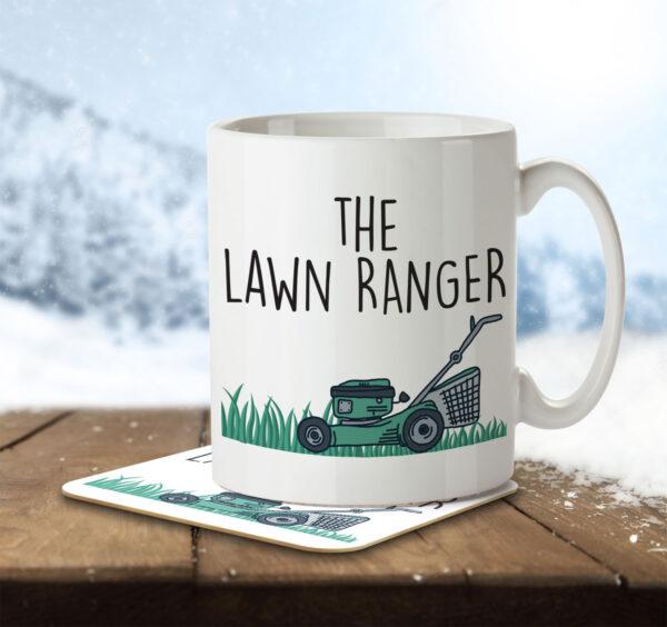 The Lawn Ranger - Gardening Pun - Mug and Coaster - MNC HOB 042 ENV