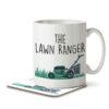 The Lawn Ranger - Gardening Pun - Mug and Coaster - MNC HOB 042 WHITE