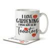 I Love Gardening From My Head Tomatoes - Gardening Pun - Mug and Coaster - MNC HOB 047 WHITE