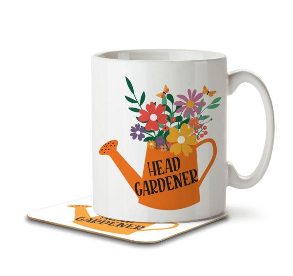 Head Gardener - Mug and Coaster - MNC HOB 048 WHITE