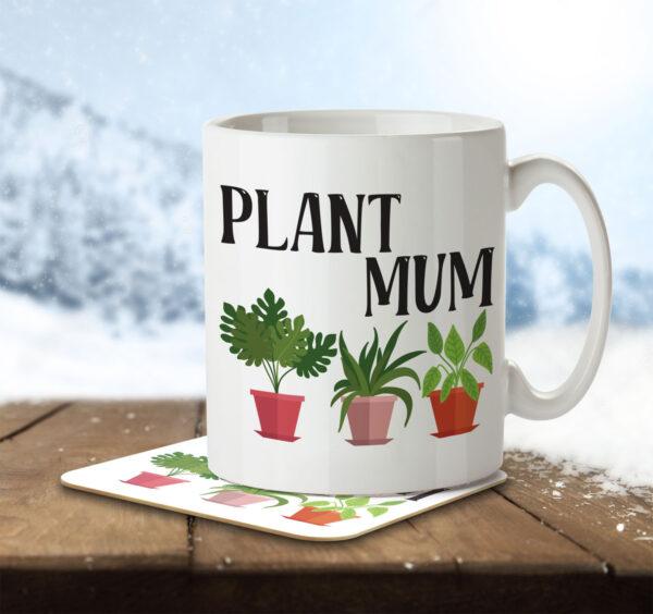 Plant Mum - Gardening - Mug and Coaster - MNC HOB 049 ENV