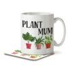 Plant Mum - Gardening - Mug and Coaster - MNC HOB 049 WHITE