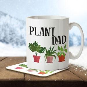 Plant Dad – Gardening – Mug and Coaster