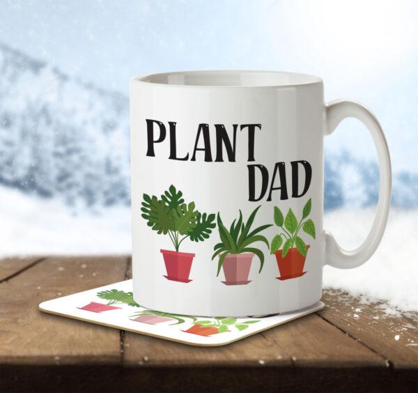 Plant Dad - Gardening - Mug and Coaster - MNC HOB 050 ENV