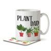 Plant Dad - Gardening - Mug and Coaster - MNC HOB 050 WHITE
