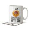I Run - I'm Slower than a Sloth - Mug and Coaster - MNC FUN 103 WHITE